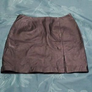 Beautiful VTG Leather Mini Skirt